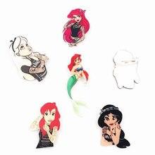 1 шт. Tatto девушки принцесса Harajuku Алиса женщина иконы на булавке рюкзак с нашивками акриловые значки Rozet воротник шарф булавки аксессуары