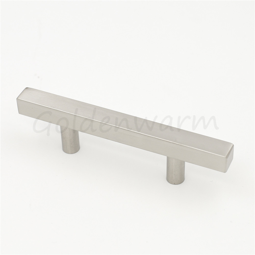 5 Pieces Brushed Nickel 3 Inch Hole Centers Cabinet Handles ...