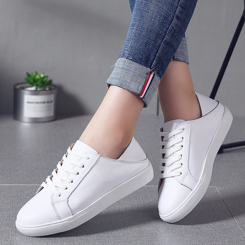 Spring and autumn new simple Korean casual womens walking shoes basic leather strap walking shoes NH428-1-7Spring and autumn new simple Korean casual womens walking shoes basic leather strap walking shoes NH428-1-7