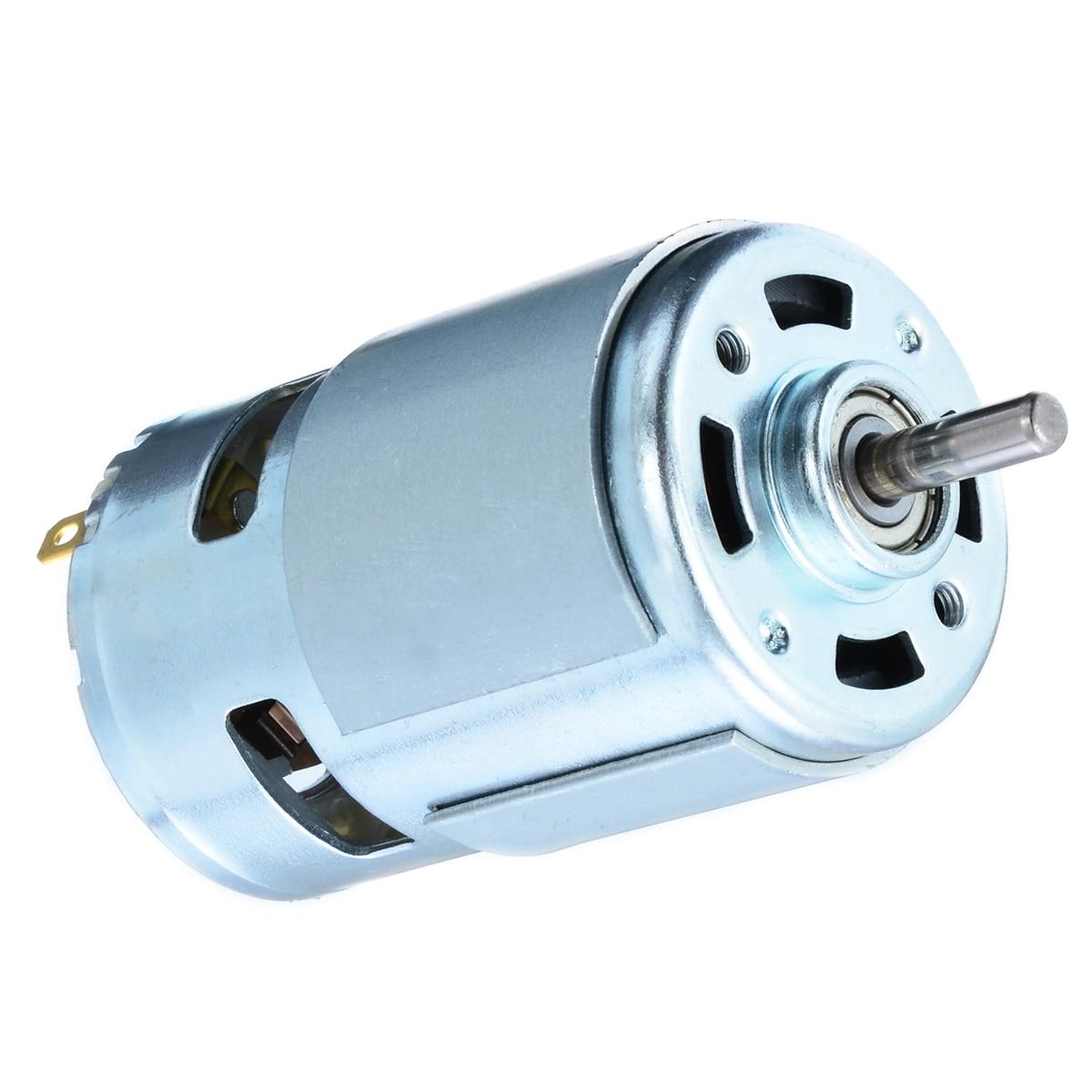 1 unid Durable Micro Motor DC12-24V 150 W 13000-15000 RPM 775 de potencia de alta velocidad Moto 5mm del eje para el lavado de coches de pulverizador de bomba de herramienta eléctrica