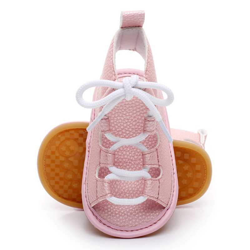 First Walkers Newborn Infant Baby Boys Girls PU Breathable Hollow Out Anti-slip Newborn Cack Shoes 0-24M
