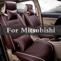 Car Pass Artificial Leather Auto Seat Covers Automotive Seat Pad For Mitsubishi Mirage Montero Sport Outlander