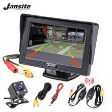 Jansite monitor Dell'automobile Da 4.3 Pollici TFT LCD Car Rear View Monitor di Sistema per il Backup di Sostegno Della Macchina Fotografica di Parcheggio di Rearview VCD DVD auto TV