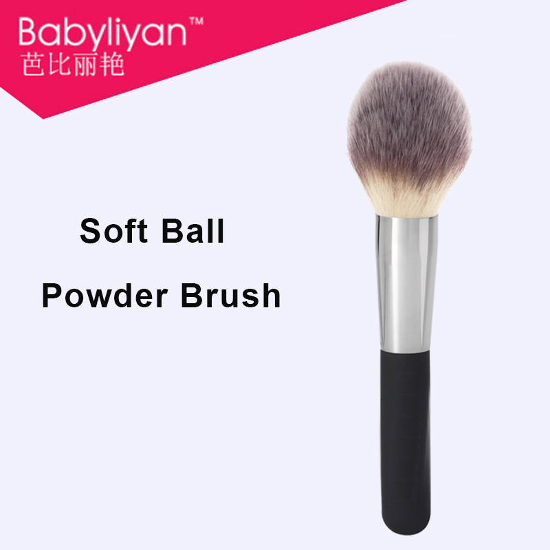 1 PC Face Makeup Soft Brush Flame Shape Powder Cosmetic Brush makeup brushes quick air brush with rubber handle N8