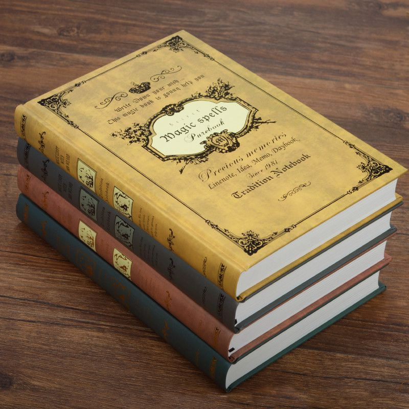 1 pcs European Style Vintage Hardcover Magic spells notebook Diary Notebook Travel Journal Book Lined B5