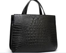 100% genuine leather bag ladies 2015 Crocodile pattern Women messenge bags handbags women famous brands designer high quality