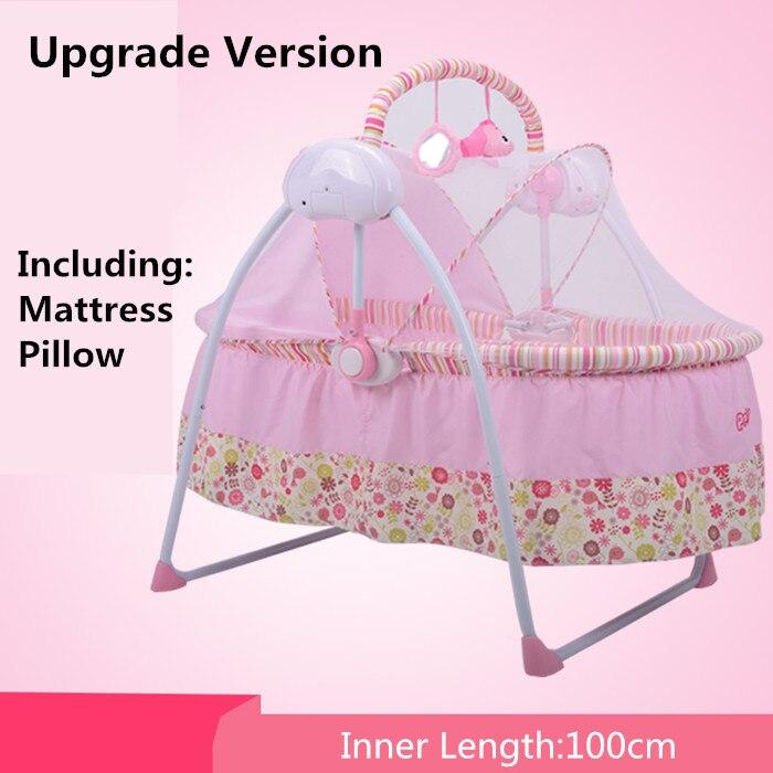 Электрический babysing супер легкий складной детская кровать/Детские кроватки/удобства переноски/складная кровать/люльки для Новорожденные о...