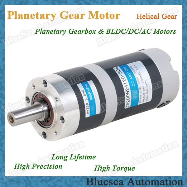 82mm 15w dc gear motor with planetary gearbox in underwear Dc planetary gear motor