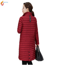 2017 New spring autumn Light thin Cotton clothing coat female middle-length women Slim warm women's Cotton jacket  G264 JQNZHNL