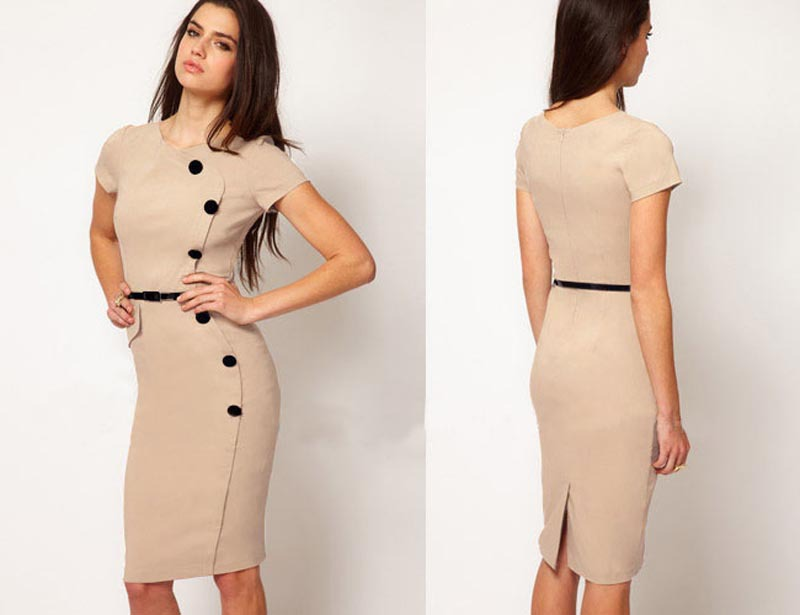 Below the knee dresses for plus size women