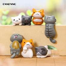 6pcs Japan Kawaii Cat Miniature Terrarium Figurines Ornaments For Home Decoration Creative Japanese Anime Pvc Figure Home Decor(China)