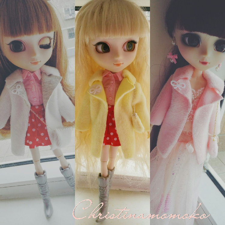 Free shipping high quality Handmade 2pcs/set Coat + bag Doll Clothes for Blythe licca pullip Doll accessories Toys Gift 2017 high quality taiwan bao gong pk 2801 vde1000v pro skit high voltage insulation electrician tool set free shipping