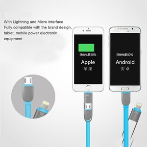 Image 4 - DASENLON Charging and Data Cable, 2 in 1 Fast Charging Cable with Micro USB for Android Phone and Lighting for iPhone