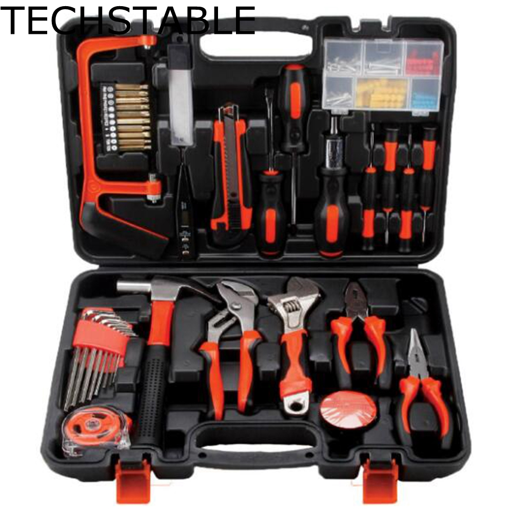 TECHSTABLE 100 Pcs Robust lightweight Universal Multi-functional Precision Maintenance Repair Hardware sets Home Tools 2018 100pcs maintenance repairing hardware instrumental sets robust lightweight multifunctional hand tools kits fast delivery
