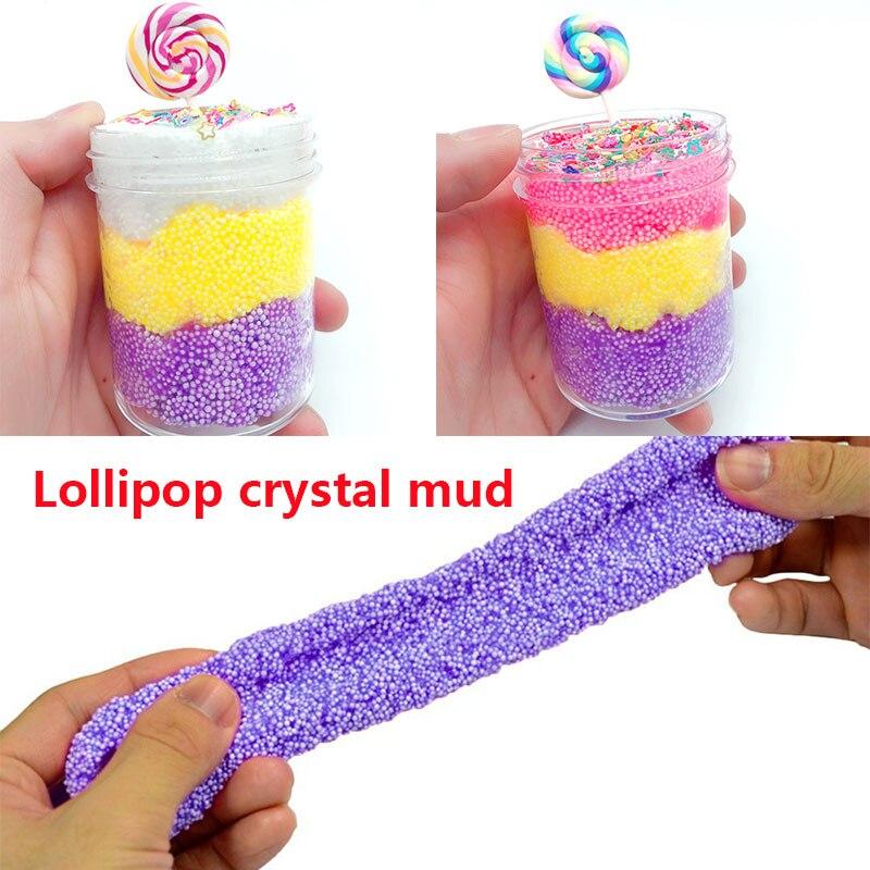 Pate slime креативные пушистые слизи игрушки Lollipop Пластилин «сделай сам» Vent игрушки грязь развлечения слизи игрушки руки-на пушистой пены слизи
