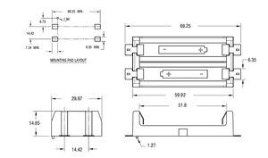Image 3 - 4 stks/partij 2 AA Batterij Houder SMD SMT Hoge Kwaliteit Batterij Doos Met Brons Pins TBH 2A 2A SMT