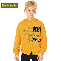Balabala Boys Pullover Hoodies 2018 Spring Children Clothes Cotton Sweatshirts Boy Fashion Letters Hooded Kids Clothes