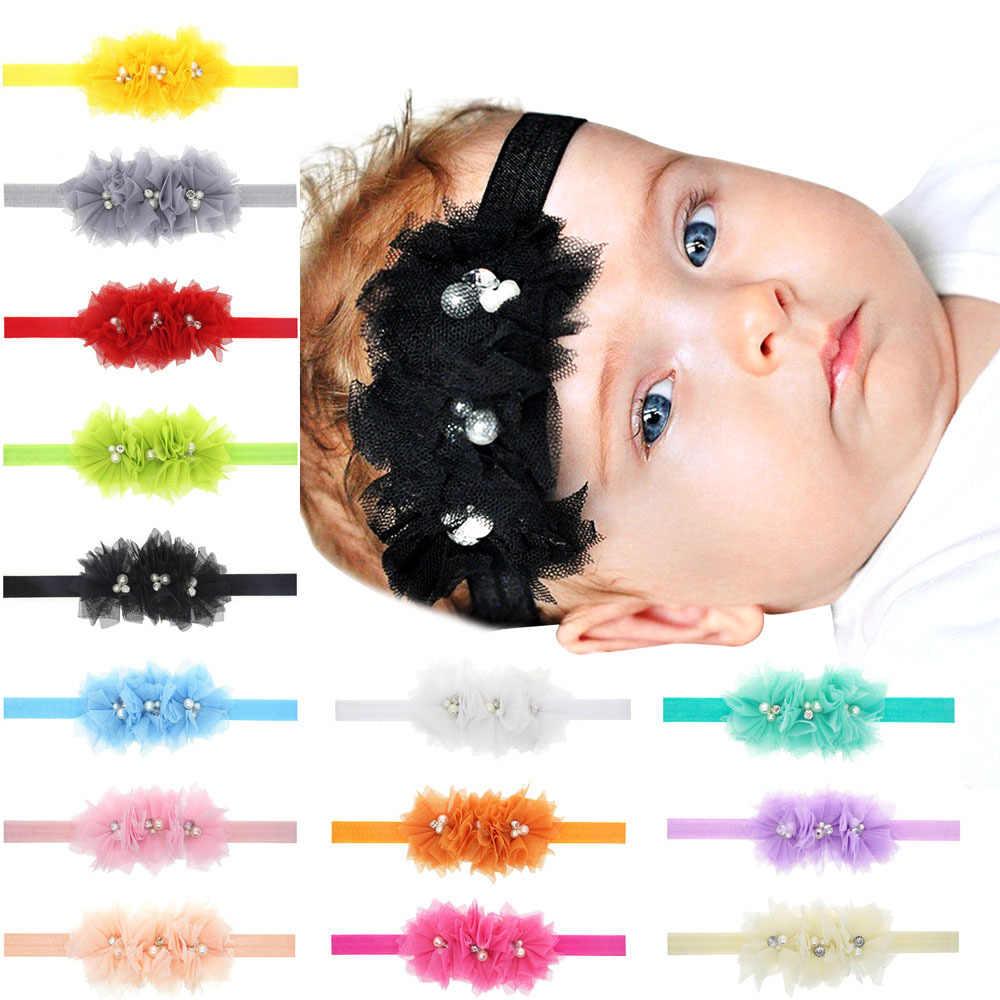 Повязка на голову для девочек аксессуары для волос для младенцев Цветочные кружевные Галстуки-бабочка головные уборы для новорожденных тиара подарок для малышей повязки ленты головной убор