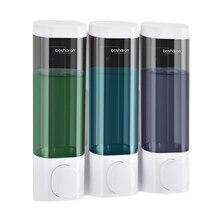 Seife Dispenser Wand Montieren Shampoo Dusche Gel Spender Triple Double Einzigen Körper Waschen Spender Für Bad Küche Wc
