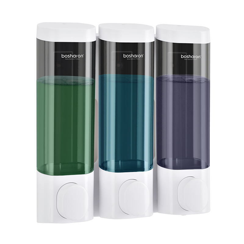Soap Dispenser Wall Mount Shampoo Shower Gel Dispensers Triple Double Single Body Wash Dispenser For Bathroom Kitchen Toilet