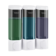 Soap Dispenser Wall Mount Shampoo Shower Gel Dispensers Triple Double Single Body Wash Dispenser For Bathroom Kitchen Toilet