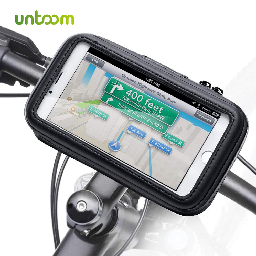 Untoom Bicycle Motorcycle Phone Holder Waterproof Bike Phone Case Bag for iPhone Xs Xr X 8 7 Samsung S9 S8 S7 Scooter Phone Case-in Phone Holders & Stands from Cellphones & Telecommunications