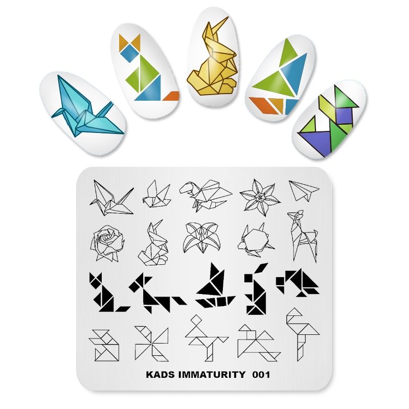 Rolabling Immaturity Origami Paper Crane Templates Diy Image Nail Stamp Decoration Template Plate In Art From Beauty