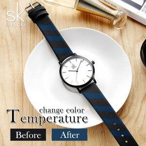 Image 3 - Shengke ファッション女性のクォーツ時計女性クリエイティブストラップ色を変更時計アナログレディースドレスジュネーブ腕時計リロイ Mujer