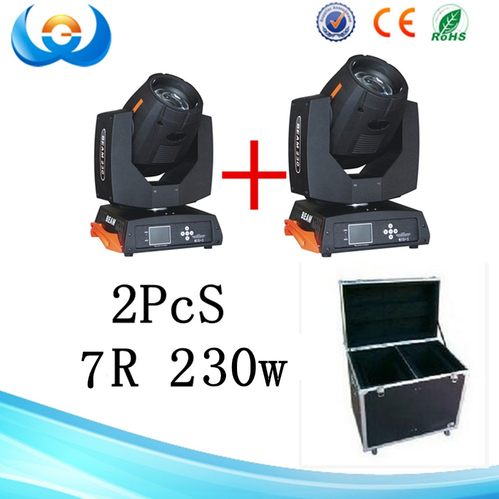 boryli r7 moving head light lamp 230w 2pcs led stage lighting with flight case package in stage. Black Bedroom Furniture Sets. Home Design Ideas