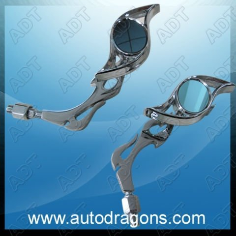 Free shipping!Motorcycle rearview mirrors,Fashion style Chrome mirrir, motorcycle parts,005A