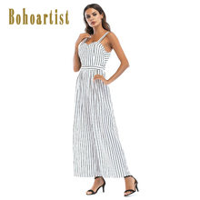 041502d7851 Bohoartist Women Jumpsuit White Striped Sleeveless Jumpsuits Backless  Summer 2019 New Sexy Ladies Loose Boho Wide Leg Jumpsuits