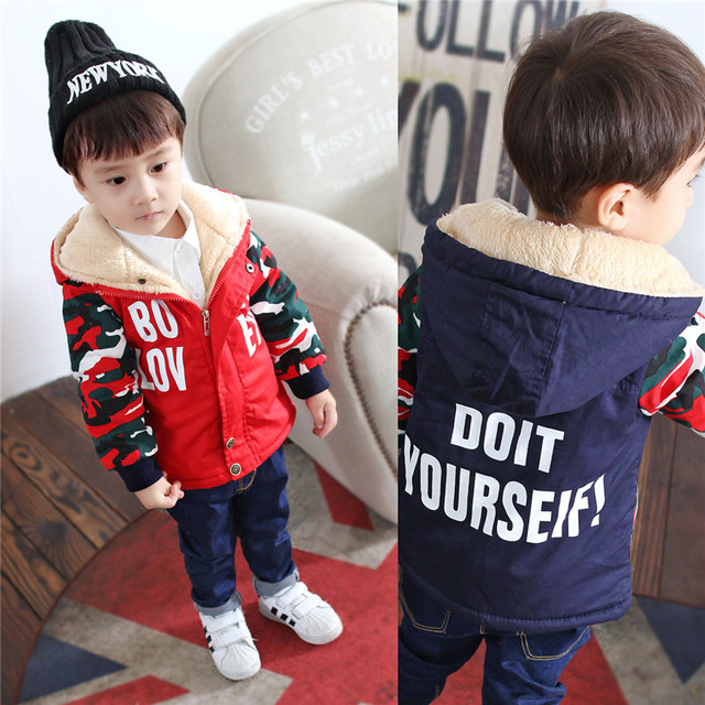 High Quality Winter Jackets Boys,Red Blue Warm Coat Kids Hooded,Casual Boy Outerwear Children Clothes,Baby Boy Clothing Jacket