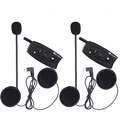 2 unids/lote, 2 jinetes de la motocicleta del casco de bluetooth intercom headset interphone 500 m v2 moto comunicador