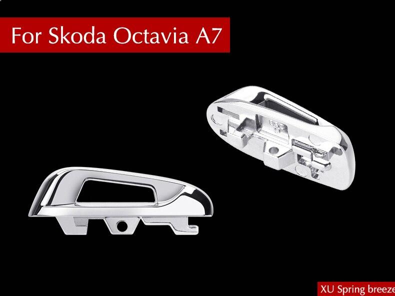 Para Skoda Octavia MK3 A7 2014, 2015, 2016, 2017 Refit clave Base recorte cubierta de estilo de coche para una excelente karoq Kodiaq rápido
