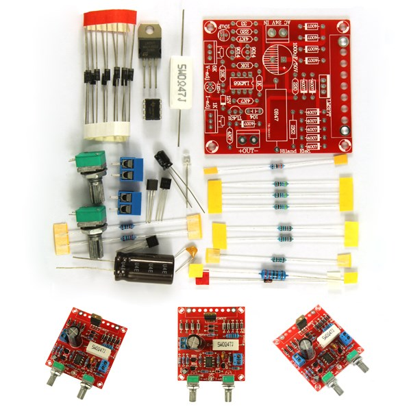 0-30V 0-1A LM317 Digital Display Adjustable Regulated Power Supply Board Module DIY Kits