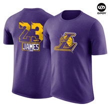 Los Angeles Kobe Bryant LeBron James Anthony Davis T-shirt-algodão de manga curta t-shirt do basquetebol sports dpoy marca(China)