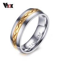 VNOX 6MM Titanium Rings For Women Free Gift Box Titanium Ring Wedding Band Engraved TITANIUM Free