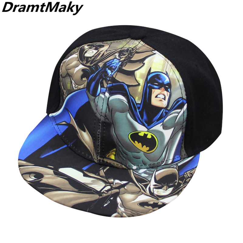 Children Cartoon Colorful Superman Batman Baseball Cap Adjustable Kids Baseball Snapback Cap Unisex Hip Hop Hats  2-7 Years New new fashion children summer baseball cap cartoon character design hip hop hats 3 to 12 year old girl boy kids lovely snapback