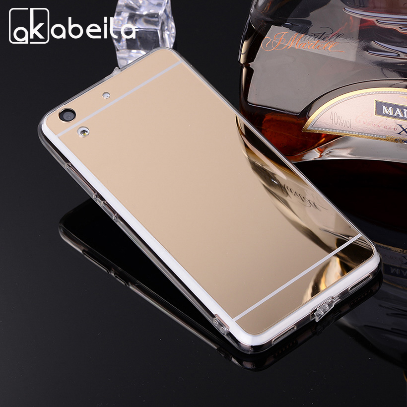 AKABEILA Phone Cases Back Cover For Huawei Y6 II Huawei Honor Holly 3 CAM-L21 CAM-L32 Soft PC Mirror Case Covers Shell Housing