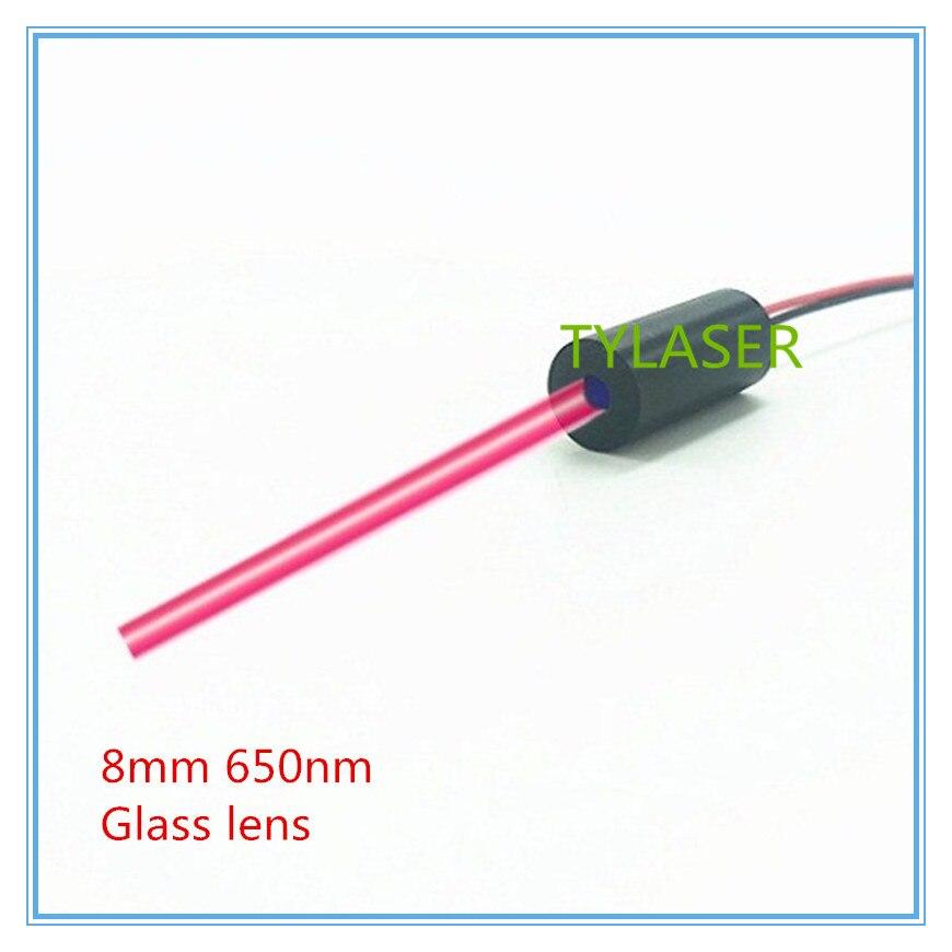 Haut de Gamme Lentille En Verre 8mm 650nm 1 mW 5 mW 10 mW Red Dot Laser Module de Qualité Industrielle APC pilote