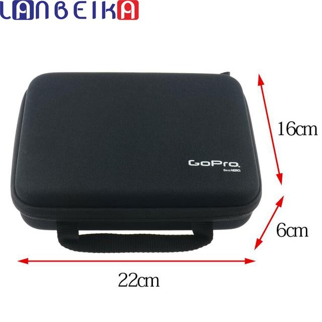 Lanbeika Voor Gopro Midden Draagbare Storage Collection Bag Case Box Voor Gopro Hero9 8 7 6 Sjcam SJ5000 SJ9 SJ6 SJ7 Dji Osmo Eken