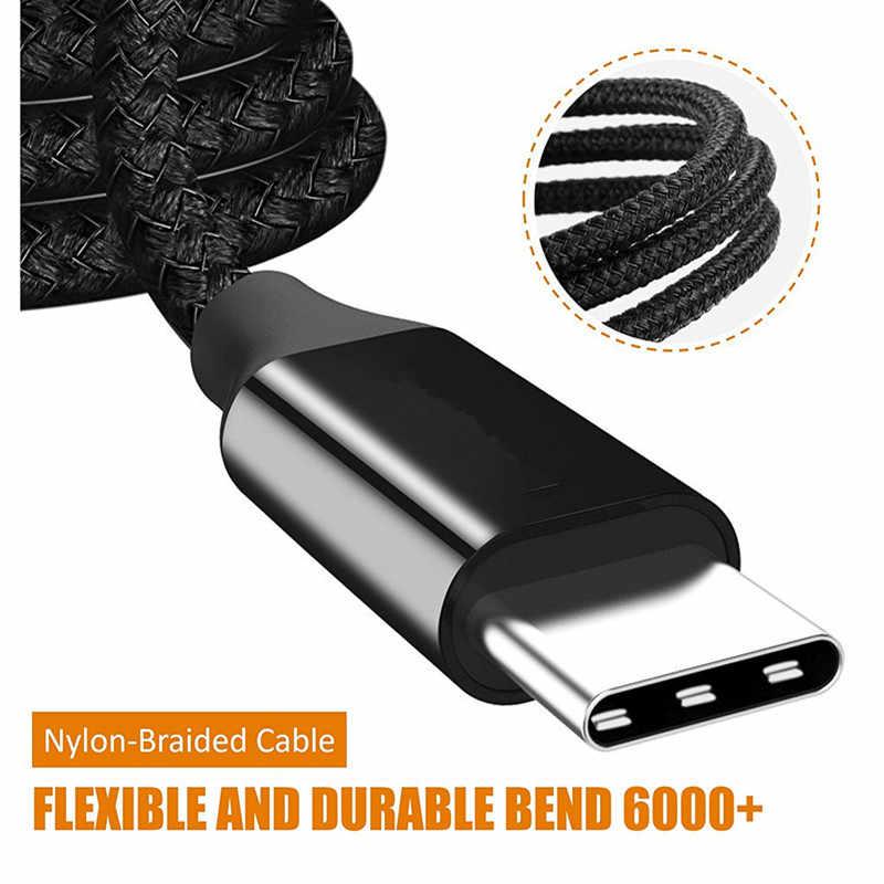 أسود نوع C شاحن USB C سريع شحن البيانات تهمة لهواوي P20 لايت P30 الموالية زميله 20 الشرف 10 9 8 الرؤية 20 MediaPad M5 M8