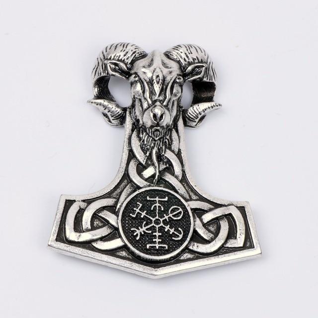norse viking mjolnir amulet necklace goat thor 39 s hammer