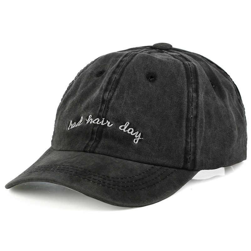 Gorra unisex de Mal Pelo para el día de papá, gorra lavada de Gorra de béisbol de algodón de Color liso ajustable para parejas, gorra a la moda, gorra Snapback, novedad Pananma