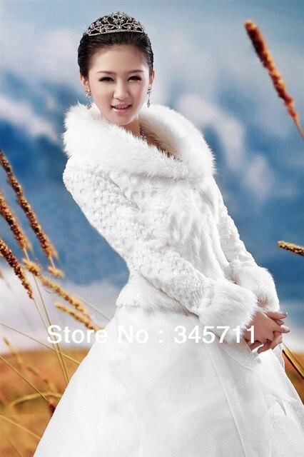 neues Hoch Klasse lang Ärmeln weiße wolle schals brautkleider braut ...