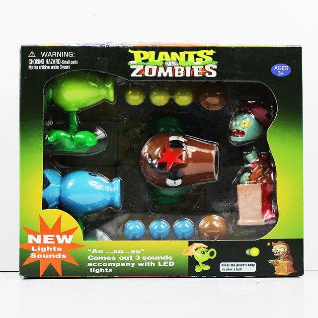 Baru Tanaman Vs Zombie Pvz Tokoh Toys Kelapa + Pertanian Gun Zombie Aksi  Angka Mainan Boneka 34d578beaf