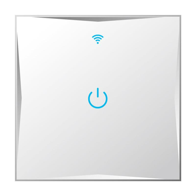 QIACHIP UK/EU Wireless 1 Gang Wifi Light Switch,Smart Home Automation Mobile Remote Control RF Touch Panel Switch Z2 цены