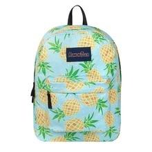 waterproof pineapple Appliques laptop backpack Women anti theft school Bag teenagers man computer feminina Backpack