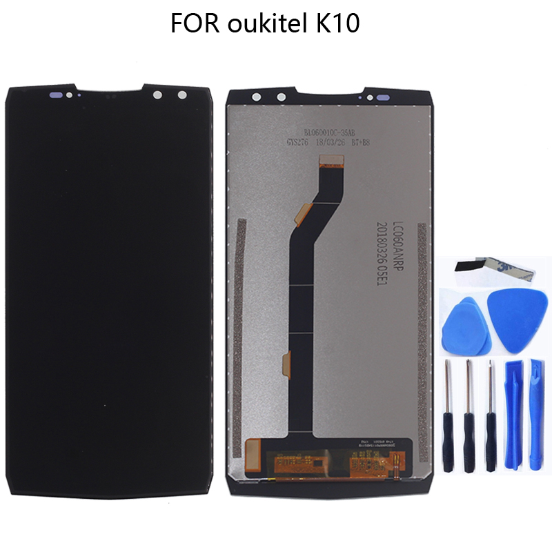 For OUKITEL K10 100% original new LCD display For OUKITEL K10 LCD + touch screen tablet screen component replacement 6.0 inches-in Mobile Phone LCD Screens from Cellphones & Telecommunications
