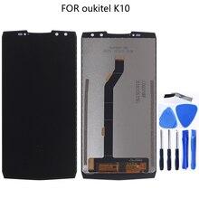 대 한 OUKITEL K10 100% original new LCD display 대 한 OUKITEL K10 LCD + touch screen 태블릿 스크린 component 교체 6.0 inches